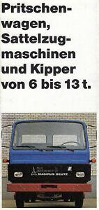 MAGIRUS DEUTZ 6 13 TO T LKW Lastwagen Sattelzug Pritsche Prospekt Brochure 49