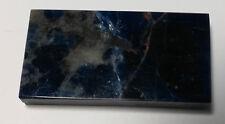 Sodalith: flacher Schmuckstein 36x18mm rechteckig - Höhe 6mm -blau 44ct