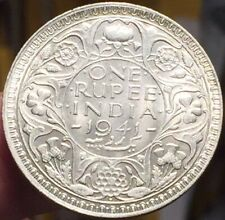British INDIA RUPEE 1941 Silver Coin - Lustrous High Grade - Please See Pics