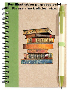 Book Stack Sticker No.115, party favours loot, scrapbooking stickers