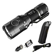 Nitecore MH20 1000 Lumen Compact USB Rechargeable LED Flashlight & Adapters