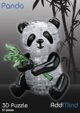 3D Crystal Panda/ Football/Dinosaur/Skull/Apple/Elephant Puzzles