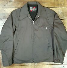 VINTAGE 70s or 80's SEARS insulated WORK WEAR jacket mens M outerwear Brown (D1)