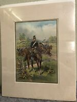 1899 Military Calvary Lithograph Print-Werner Company