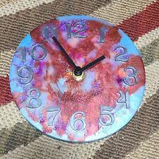 Epoxy Resin Tie Dye Wall Clock with AA Battery Power - HANDMADE in New Jersey