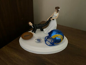 Los Angeles Rams  Cake Topper Bride Groom Wedding day NFL Funny Football Theme