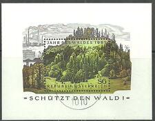 Österreich - Jahr des Waldes gestempelt 1985 Block 7 Mi. 1819