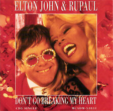 "ELTON JOHN / RU PAUL - DON'T GO BREAKING MY HEART - 12"" VINYL U.S.A. 1996 SEALED"