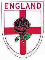 Bandera británica St. George Inglaterra Copa Mundial Coche Rosa Vinilo Pegatina Calcomanía Parachoques