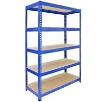 3 Racking Bays 120cm Warehouse Shelves Storage Garage Shelving Unit Steel 5 Tier