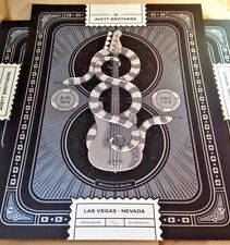 Avett Brothers 8/29/14 Poster Las Vegas Signed Numbered #/200 Metallic Bass N1