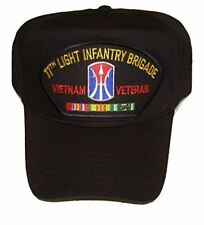 11TH LIGHT INFANTRY BRIGADE VIETNAM VETERAN HAT with ribbons and 11th Brigade cr