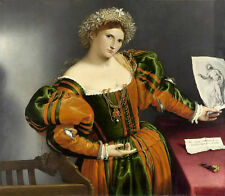 Oil painting Lorenzo Lotto - Portrait of a Woman inspired by Lucretia on canvas