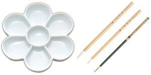 Kissho Gansai Accessories Kit Japanese Watercolor Paint brush Umesara-dai Japan
