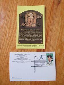 TOM LASORDA Induction HALL OF FAME Plaque August 3, 1997 CANCELED Stamp DODGERS