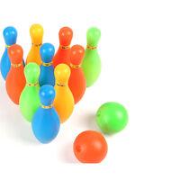 11cm Height Kids Plastic Bowling Set Outdoor Mini Educational Toys MOAU