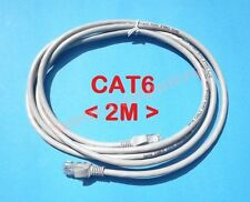 CAT6 Ethernet Network Cable Internet LAN Straight Patch Lead 2M Cord RJ45 Plug