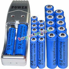 12x AA 3000mAh+12x AAA 1800mAh 1.2V NI-MH Rechargeable Battery +USB Charger