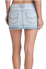 Guess Mattie Blue Jean Demin Skirt Distressed Vintage Short Mini Boho Sz XS NWT