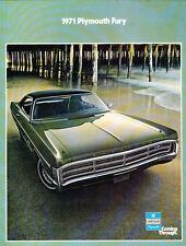 1971 Plymouth Fury 22-page Original Sales Brochure Catalog - GT Gran I II III