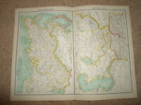 c1900 Map ~ NORTHERN+CENTRAL ASIA  Bartholomew From XXth Century Citizen's Atlas