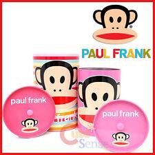 Paul Frank Julius Trash Can Set with Top -Tin Metal Bins 4pc Pink Set