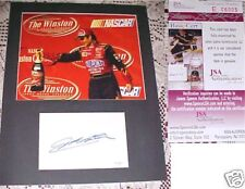NASCAR Jeff Gordon Signed Index Card w/8x10 MATTED JSA