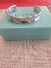 Authentic Tiffany & Co Sterling Silver Narrow Cuff 1837 Bracelet  Small Size 6