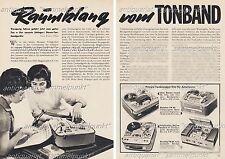 Stereo-Tonbandgeräte / Grundig / Uher / Saba u.a. - Original Bericht von 1959