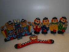 Wooden Kids Bookends & Coat Hangers Hand Crafted and Painted / Great Conditions