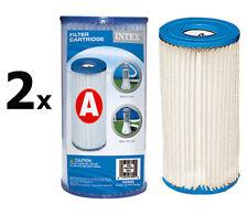 Intex 2x Ersatzfilter A Kartusche Filterkartusche für Pool Filterpumpe