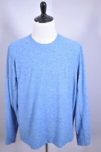 Lululemon Surge Warm Long Sleeve Shirt Blue Heather Men's XXL