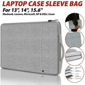 Laptop Sleeve Bag Carry Case Cover Pouch For Macbook Air Pro HP 13.3 15.4 Inch