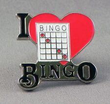 I LOVE BINGO - PIN BADGE  - HOUSE KELLY'S EYE LEGS ELEVEN  (OB-47)