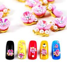 10pcs/pack 3D Nail Art Peach Blossom Fleur Mix Bijoux Gems DIY Nail Art Décors~