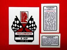 Tecumseh 5 hp Decal ezee-start flag H50 mini bike go kart mower tiller