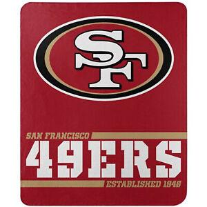 San Francisco 49ers Licensed Fleece Throw Blanket Football Southpaw 50'' X 60''