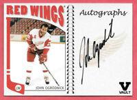 2015-16 John Ogrodnick ITG Final Vault 2004-05 NHL Franchises Auto - Red Wings
