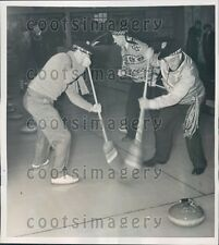 1938 St Andrews Golf Club Members Play Curling Mt Hope NY Press Photo