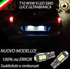 COPPIA LUCI TARGA 9 LED PER FORD FIESTA VI 6 T10 W5W CANBUS NO ERRORE