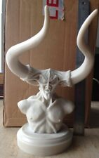 "Lord Of Darkness - Legend - Alabaster 9"" Bust. Unpainted Bust. FREE UK POSTAGE."