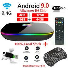 TV Box Q Plus Smart Android 9.0 Quad Core 32GB/64GB HD 6K Media Player Keyboard