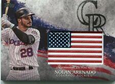 2018 Topps Independence Day U.S. Flag Relics #IDMLNA Nolan Arenado - NM