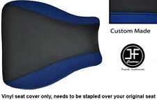 BLACK AND ROYAL BLUE VINYL CUSTOM FITS HONDA CBR 600 RR8 07-11 SEAT COVER ONLY