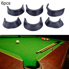 6Pcs/Set Billiard Pool Table Valley Pocket Liners Rubber Billiard Replacement HF