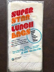New Pittsburgh Steelers Safelon Super Star Plastic Lunch Bags Bradshaw Greene