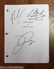 JERRY MAGUIRE signed script Tom CRUISE Cuba GOODING JR Rene ZELLWEGER COA