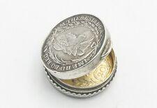 Rare small solid silver coin snuff box 1772 20 Kreuzer continental Austrian