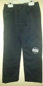 Boys Nautica $36 Uniform/Casual Navy Blu Flat Front Double Knee Pants Size 4 NEW