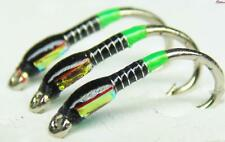 3 X Black and killer green UV hot butt with traffic light cheeks size 12 trout